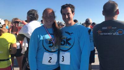 Bob and Cara at 2.5 K race