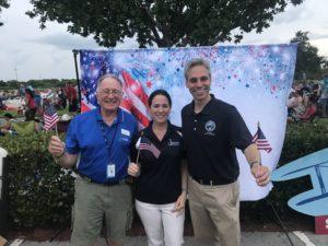Melvin Pollack, BRAA Board member, Clara Bennett, BRAA Executive Director, and Boca Raton Mayor Scott Singer