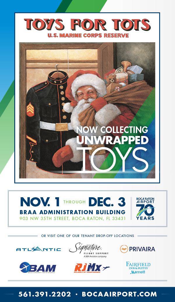 toys for tots poster, nov. 1 through dec. 3