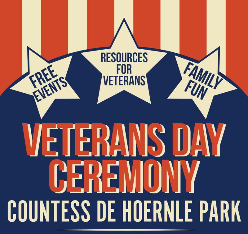 Flyer, 2018, Veterans Day Ceremony at Countess de Hoernle Park