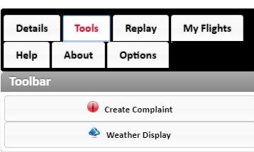 Tools page tool bar