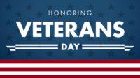 BRAA banner Honoring Veterans Day